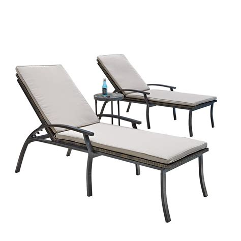 chaise b b volutive home styles laguna black woven vinyl and metal patio