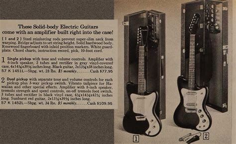 silvertone world electric guitars amplifiers