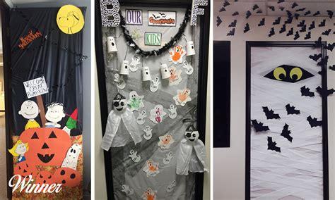 halloween contests door decorating pumpkin carving