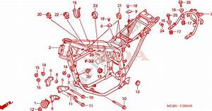Frame Body For Honda Transalp 650 2002   Honda Motorcycles