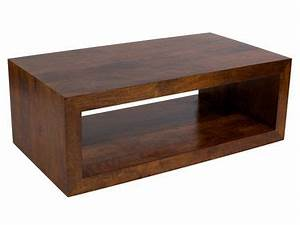 baxter rectangle coffee table in solid mango wood With solid wood rectangle coffee table