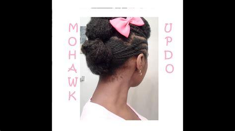 mohawk bun updo protective hairstyle   natural