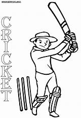 Cricket Drawing Coloring Pages Game Template Crick Sketch Getdrawings sketch template