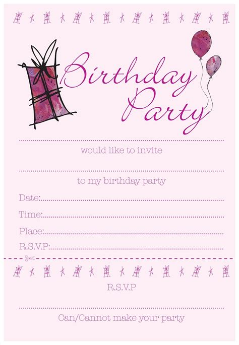 Invitation Template Birthday Invitation Templates Mughals