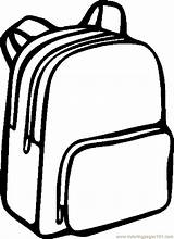 Backpack Coloring Pages Bag Printable Getcoloringpages sketch template