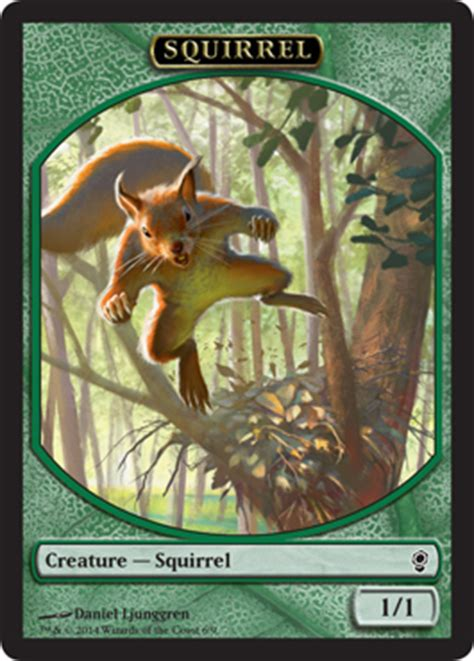 Squirrel Nest Mtg Deck by Wallpaper Squirrel Token Magic The Gathering