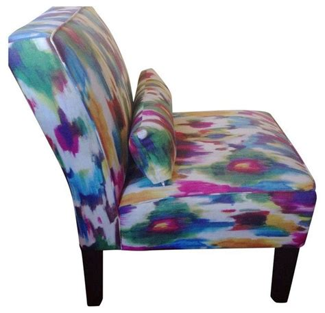 multi colored accent chairs a pair contemporary