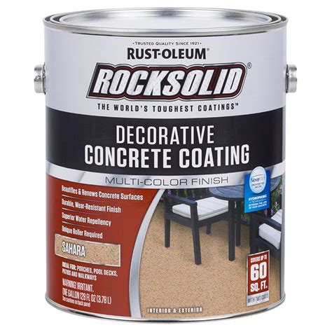 rust oleum decorative concrete coating rust oleum 306265 rocksolid decorative concrete coating