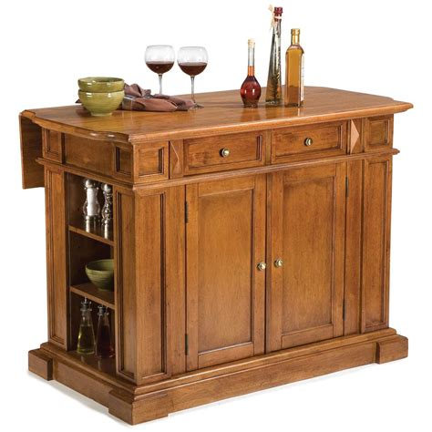 kitchen island home styles cottage oak kitchen island with breakfast bar