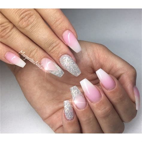 white ombre nails nail art gallery