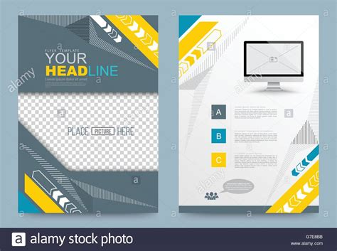 Printing Press Brochure Template by Cover Template Design For Business Annual Report Flyer