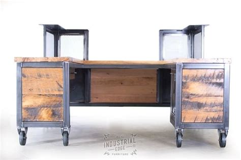 reclaimed wood reception desk crafted custom reception desk reclaimed wood by real 4536