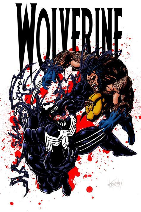Venom vs Wolverine | Cartoon artwork, Comic art, Comic ...