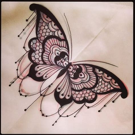 Lace Butterfly Tattoo  Gnarly Tats  Pinterest Sternum