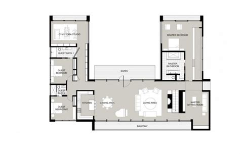 contemporary canaan residence specht harpman shaped house plans shaped house plans