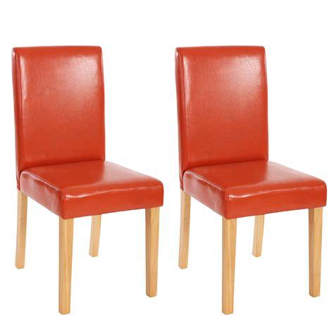 chaises de s jour lot de 2 chaises de séjour littau simili cuir pieds