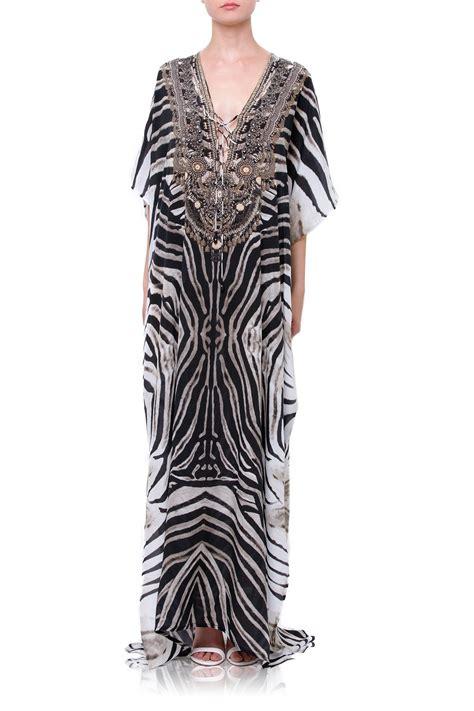 designer kaftans  stripe print