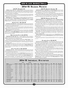 2015-16 UCO women's basketball media guide