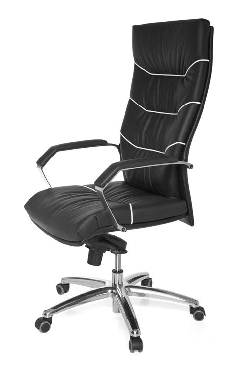 chaise cuir noir amstyle exécutif chaise de bureau ferrol cuir noir à
