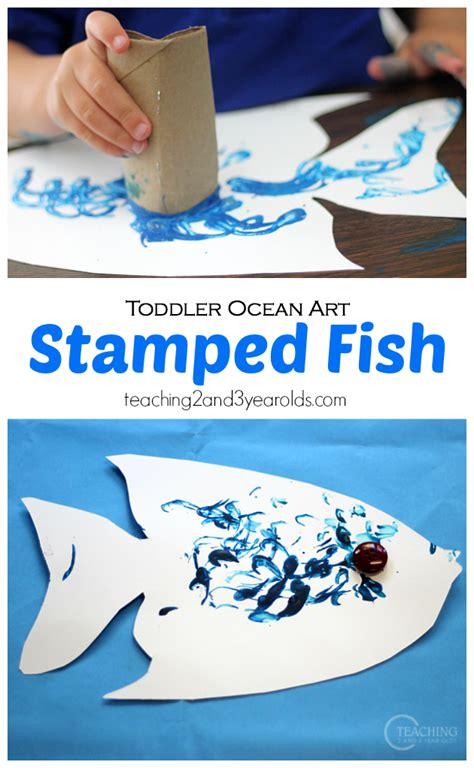 easy  fun toddler fish craft toddler art projects