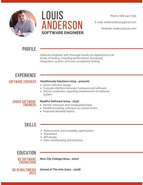 Professional Resume Building Software by R 233 Sum 233 Templates Canva