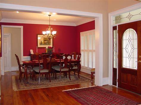 Open Foyer & Formal Red Dining Room  Plan 111d0025