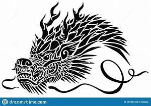 Eastern Dragon Black Stock Illustrations – 600 Eastern ...