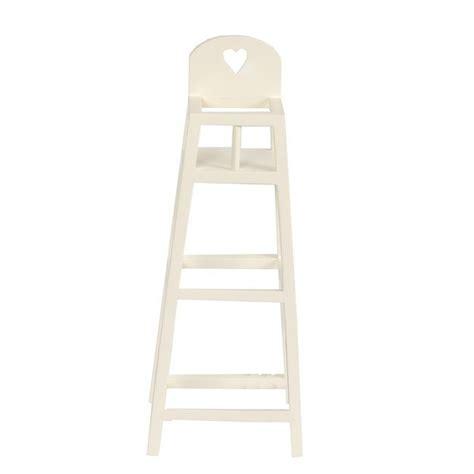 chaise en bois pour bebe maileg mini chaise haute en bois blanc