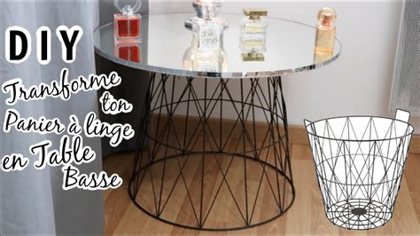 diy transforme un panier 224 linge en table basse
