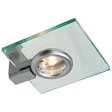 lighting 12v g4 glass fixed rectangular halogen