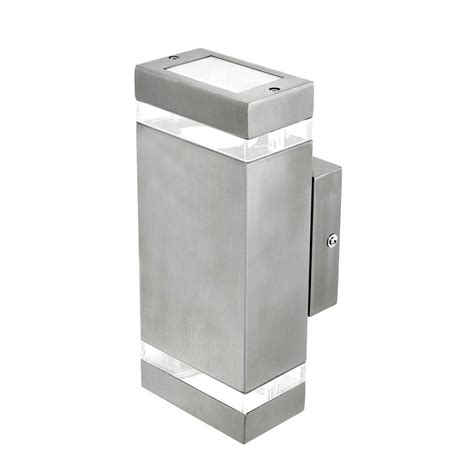 rectangular up exterior wall light charcoal