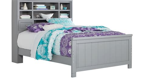 cottage color alternate  gray  pc full bookcase bed