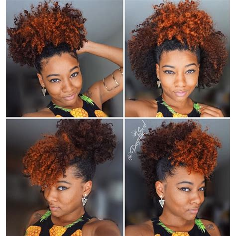 easy natural hair   puff styles   instagram
