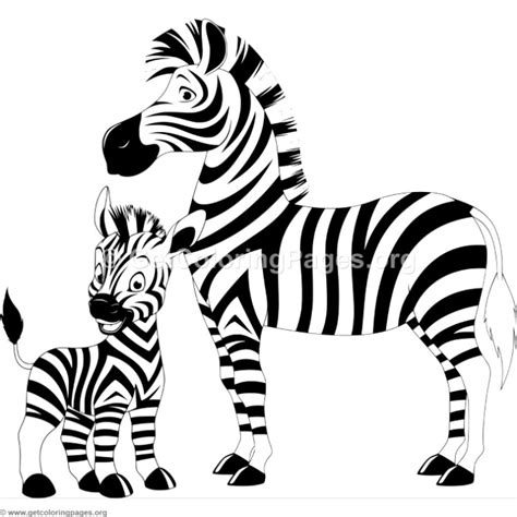 mother zebra  baby coloring pages getcoloringpagesorg