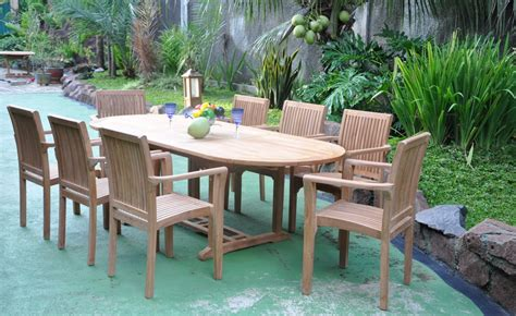 aulia stacking 8 seat outdoor furniture used teak outdoor