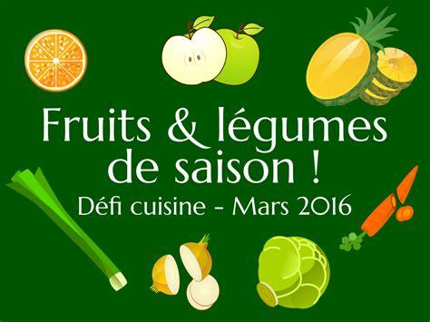 cuisine de saison défi cuisine fruits et légumes de saison