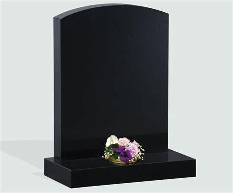 polished black granite headstone memorials of distinction