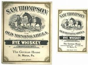 Vintage SAM THOMPSON RYE WHISKEY Label   Design- Vintage ...