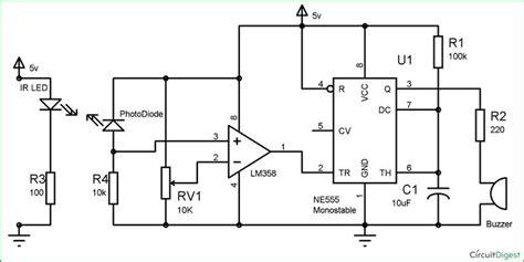 infrared security alarm circuit diagram electronic circuits in 2019 circuit diy electronics