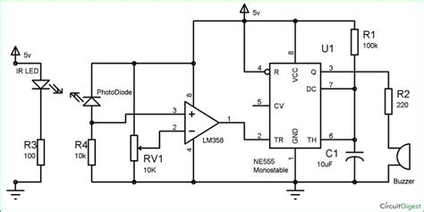 Infrared Security Alarm Circuit Diagram Electronic