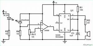 Infrared Security Alarm Circuit Diagram  Con Immagini