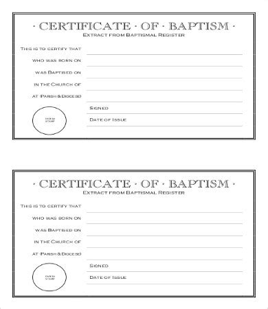 Baptism Certificate Template Pdf by Baptism Certificate Template 10 Free Pdf Documents