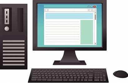Computer Clipart Desktop Website Creazilla Transparent