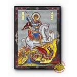 Russian Wooden Orthodox Icon Icons Nioras George