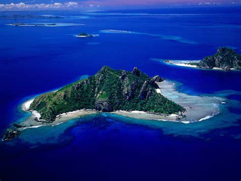 Beautiful Monu Island Fiji Nature Aerial Photography Hd