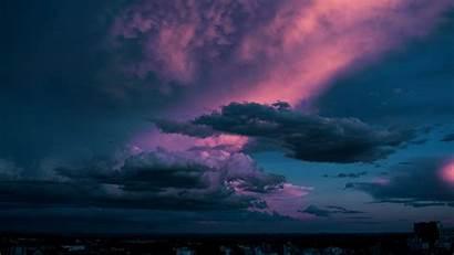 Clouds Sky Dusk Dark 4k Uhd