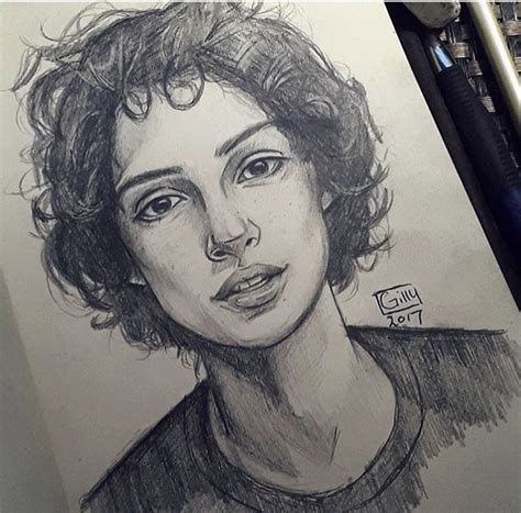 Finn wolfhard (mike wheeler)   Desenho de retrato, Desenho ...