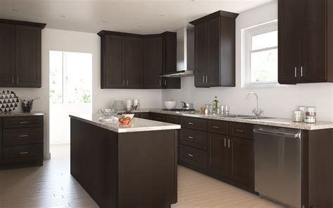 dark chocolate shaker ready  assemble kitchen cabinets