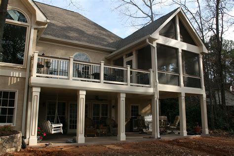 hardwood gable screened porch with watertight