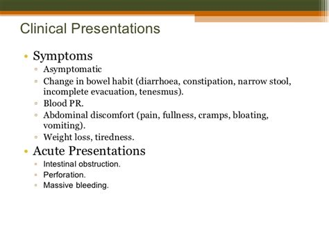 Thin Stools Gas Bloating - carcinoma rectal cancer